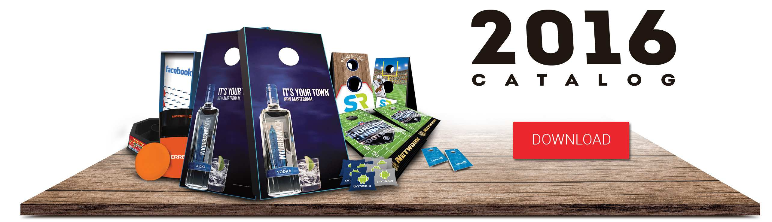 Promotoss branded games catalog