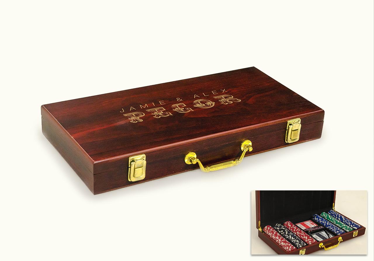 engraved poker set wholesale promotional gift